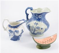 Lot 109-Collection of decorative plates, blue and white wares, fruit set, Japanese wares.