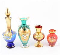 Lot 83-A collection of Murano glass and ruby glassware.