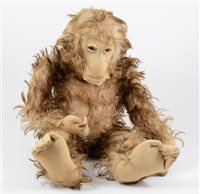 Lot 126-Long haired Monkey, possibly Steiff, circa 1930s