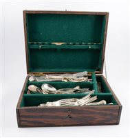 Lot 89-A part canteen of silver plated Kings pattern cutlery