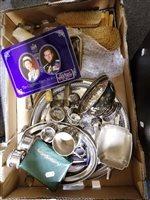 Lot 107-AMENDMENT - Seven piece silver dressing table set, London 1938
