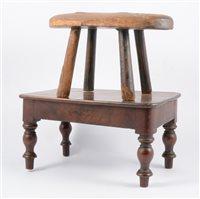 Lot 123-Small mahogany stool
