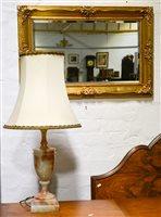 Lot 79-Modern gilt framed mirror, 87cm x 57cm
