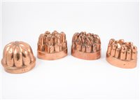Lot 110-Benham & Froud copper jelly mould and four others, (5).