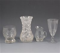 Lot 40-Cut glass and other drinking glassed, bowls, etc.