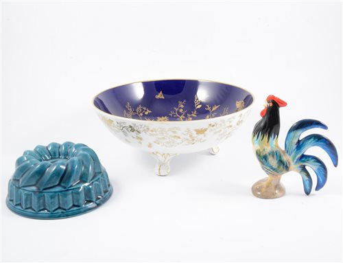 Lot 18-Quantity of decorative ceramics, including small Masons jug ceramic jelly mould, etc