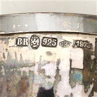 Lot 22-Italian Sterling Standard beaker, Florence, 1973.