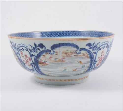 Lot 3-A Chinese polychrome bowl