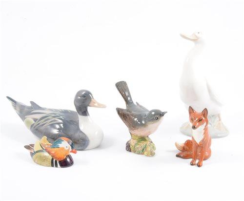 Lot 15-A Copenhagen porcelain model of a mallard duck, 16cm