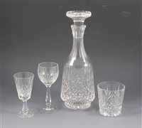 Lot 33-Three glass decanters
