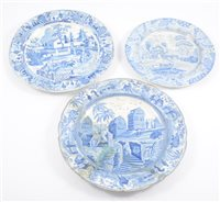 Lot 3-A collection of Staffordshire pottery transferware