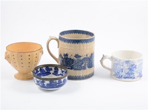 Lot 38-A collection of Staffordshire pottery transferware