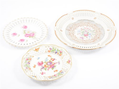 Lot 43-A pair of Meissen style cabinet plates