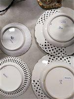 Lot 49-A set of four Meissen plates