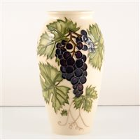 Lot 536-A Moorcroft Pottery vase, 'Grapevine' designed by Sally Tuffin.