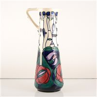 Lot 548-A Moorcroft Pottery ewer, 'Tribute to Charles Rennie Mackintosh' designed by Rachel Bishop.