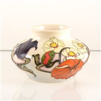 Lot 9-A Moorcroft Pottery vase, 'Sandringham' Bouquet' designed by Emma Bossons