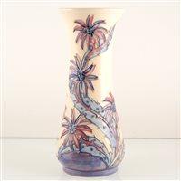 Lot 539-A Moorcroft Pottery vase, 'Daisy' designed by Sally Tuffin.