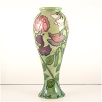 Lot 535-A Moorcroft Pottery vase, 'Sweet Pea' designed by Sally Tuffin.