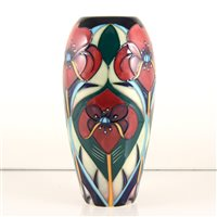 Lot 553-A Moorcroft Pottery vase, 'Crowning Glory' designed by Rachel Bishop.