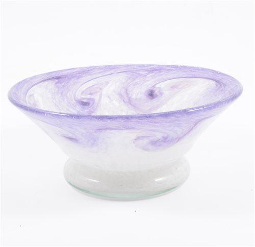 Lot 48-A Vasart art glass bowl