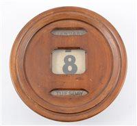 Lot 96-Circular perpetual  wall calendar, early 20th century