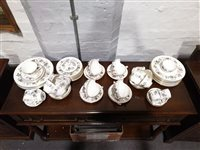 "Lot 14-Royal Worcester fine bone china tea/dinner service in the ""June Garland"" design."