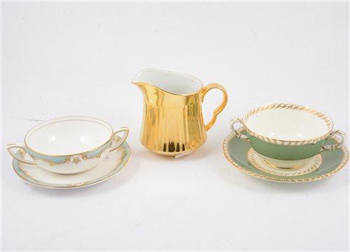 Lot 77-Royal Worcester part tea service, 'Devonshire' design, and other Royal Worcester tea ware.