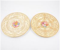 Lot 19-A pair of 20th Century Royal Worcester plates painted by J Freeman. (2)
