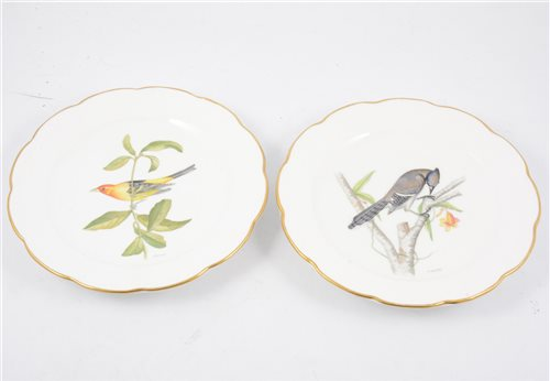 Lot 46-Five Royal Worcester hand painted decorative plates