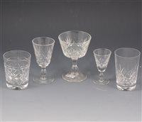 Lot 37-A large quantity of cut crystal glassware