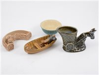 Lot 29-Collection of collectable ceramics, including Wade, Beswick, Rye Pottery, Poole dolphin, etc.
