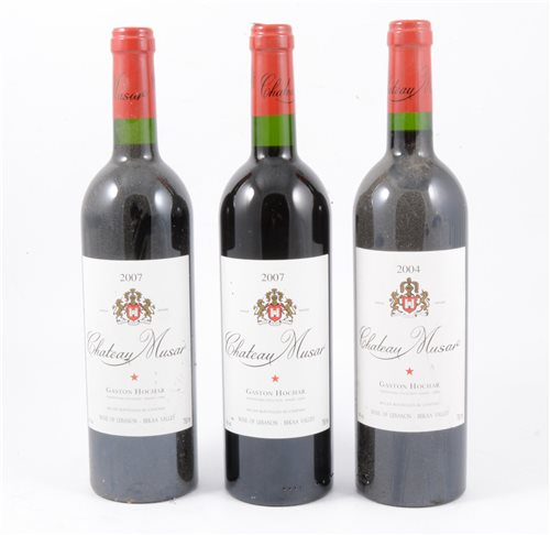 125 - Chateau Musar, Lebanon, 2007, 8 bottles; and 2004, 2 bottles (10 bottles total)