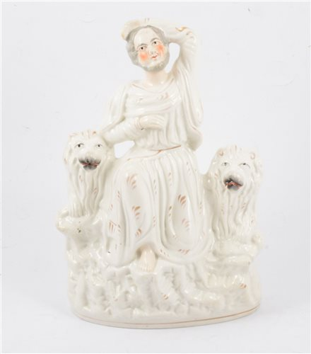 Lot 51-Staffordshire group, Daniel and the lions