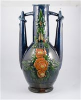 Lot 117-A large Continental Art Pottery floor vase