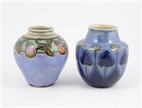 Lot 68-Two Doulton Lambeth stoneware vases