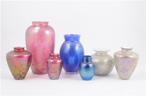 Lot 61-A collection of Royal Brierley Art Glass vases
