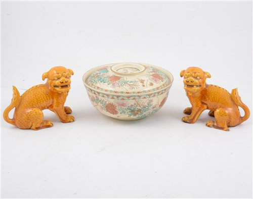 Lot 50-Six items of Asian ceramics