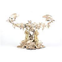 Lot 160-Victorian silver gilt centre piece, by Edward & John Barnard, London 1852.