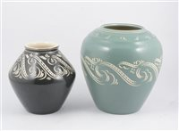 Lot 90-Two decorative vases by Pearsons of Chesterfield
