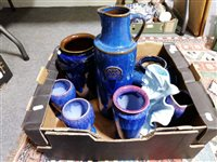 Lot 95-Assorted decorative stoneware vases
