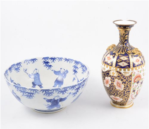 Lot 97-A Royal Crown Derby vase and assorted ceramics