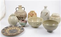 Lot 93-A collection of studio pottery