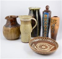 Lot 113-A collection of studio pottery/ slipware