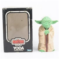 Lot 145-Star Wars The Empire Strikes Back Yoda hand puppet, by Kenner Toys, with original box.