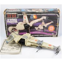 Lot 147-Star Wars B-Wing Fighter Vehicle, by Kenner Toys, with original box.
