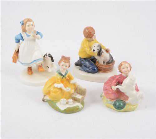 Lot 33-A collection of Royal Doulton figurines depicting children (9)