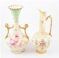 Lot 92-Nine Crown Devon blush ivory items