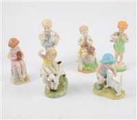 Lot 40-A collection of Royal Worcester Days Of The Week/ Months Of The Year figurines (14)