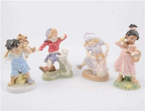 Lot 43-A collection of Royal Worcester Golden Jubilee Year limited edition figurines plus others (11)